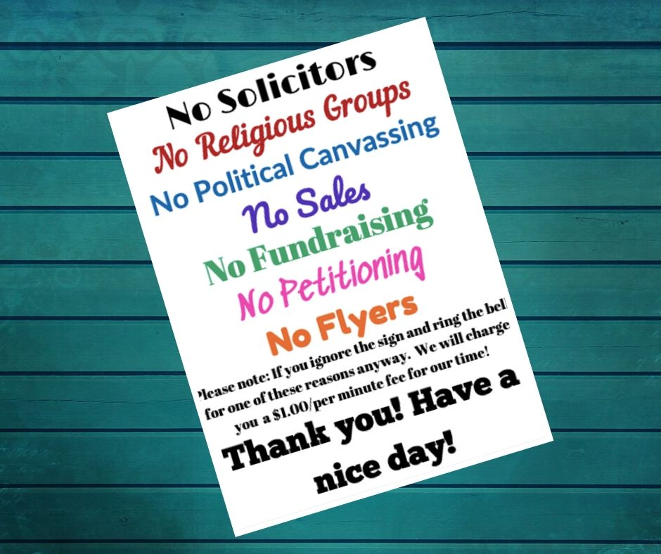It's just an image of Clever Free Printable No Soliciting Sign